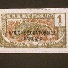 1916/17  France ,  Cameroun Over Print , Congo   1c