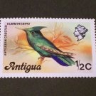 1976 Antigua , Antillean Crested Hummingbird 1/2c MNH
