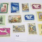 1950s Russia Stamp Lot / 12 Stamps