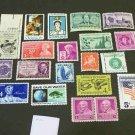 20 - Vintage 1940s-70s US Postage , 3 , 4,  5 , 6  Cent Unused