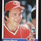 1984 Fleer #462 Johnny Bench  Reds