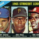 1966 Topps #225 N.L. Strikeout Leaders Koufax Gibson Veale Rare Baseball Cards