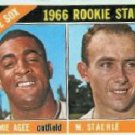 1966 Topps #164 White Sox ROOKIES Tommie Agee Marv Staehle Baseball Cards Card