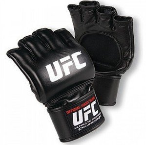 Brand new pure leather UFC fighting gloves in the official WWE MMA