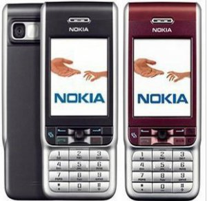 Unlocked Nokia 3230 Tri-band Cell Phone---black,red