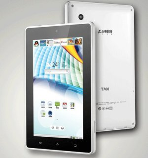 """Teclast T760 7""""  8GB Android 2.3  WIFI  Camera Tablet PC"""