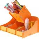 creative wooden pen holder----Black,Orange,Pink,Yellow,Red,Green,Blue