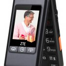 ZTE L588 dual flip phones loud big screen for elderly for the elder men and women----Black,Red