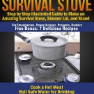 Survival Soda Can Stove DIY eBook, 7 Recipes Included*Power Outages