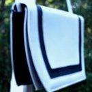 Vintage 80's Handbag White & Black Shoulder Bag/Purse Nice!