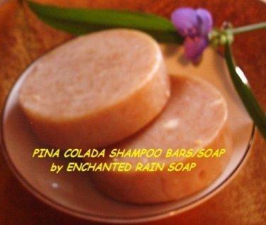 2 Pina Colada Shampoo Bars/Soap Luxury*Round*Tropical Scent*Handmade*Great Hair