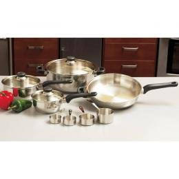 Chef�s Secret® 11pc Surgical Stainless Cookware Set with Glass Covers