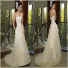 Ivory  color  standard  size Charming     Lace  Bridal  dress