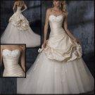Upscale  sleeveless  wedding  dress