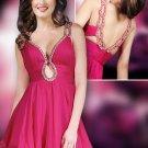 Glamorous Keyhole Neckline party dress