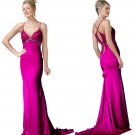 Rommantic  thin straps  evening  dress