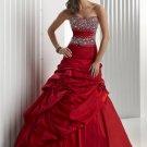 Beaded  ruching  prom  dress