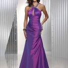 Halter  beaded  evening dress