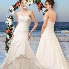 Classic Styled Strapless Bridal Gown