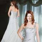 Striking One Shoulder Bridal Gown