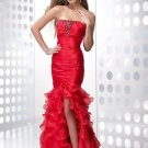 2011   Sexy  starpless  ruching  organza  prom dress