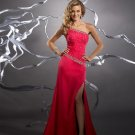 Handmade  Beaded  One  shoulder  A-line  evening  dress
