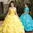 Ball  Gown  Taffeta  embroidered  prom  dress