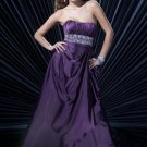 Stunning purple Beaded Evening Gown