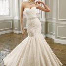 Stunning  Ruffle  Sweatheart  Lace  Bridal wedding dress