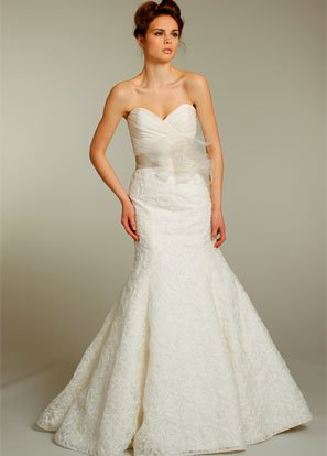 100%  Lace  sweatheart  A-line  bridal wedding dress