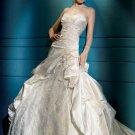 Fashion  Sweatheart  Embroidered  lace  sweatheart  wedding dress