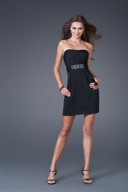 Little  Black  Fan -shaped  black  beaded  cocktail  dress