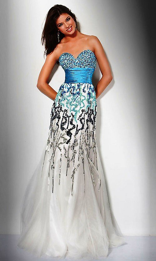 2011 Hotselling Colorful Beaded Sweatheart Evening dress