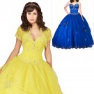 Scalloped hemline ball gown  prom dress