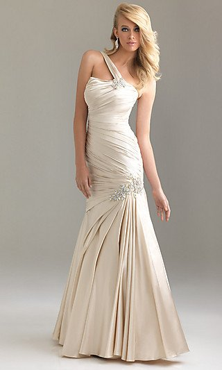 Long One Shoulder Formal Dress by Night Moves  evening  dress