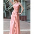Sexy Tencel Pink Beading A-line Prom / Evening Dress