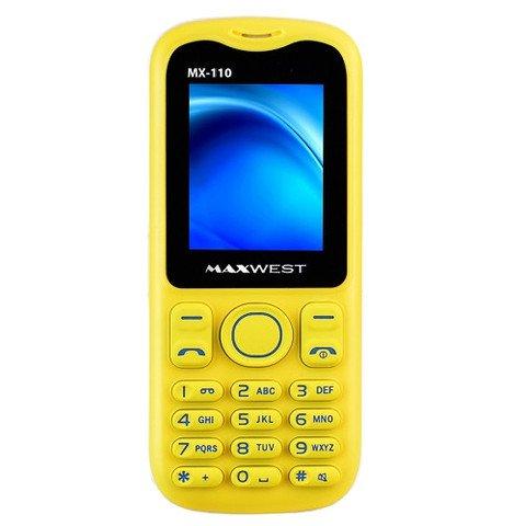 "Maxwest MX-110 1.8"" Quad-Band GSM Dual-SIM Bluetooth Camera Phone w/FM Tuner (Yellow/White)"