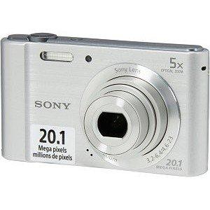 Sony DSC-W800 20.1MP 5x Zoom HD Video Compact Digital Camera Silver (Refurbished)