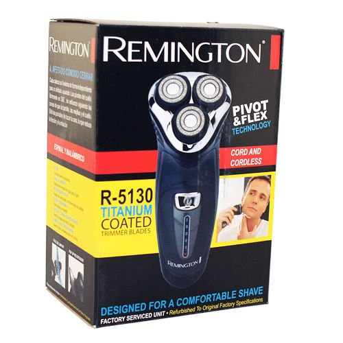 Remington R-5130 Cord/Cordless Rechargeable Men's Rotary Shaver Recertified