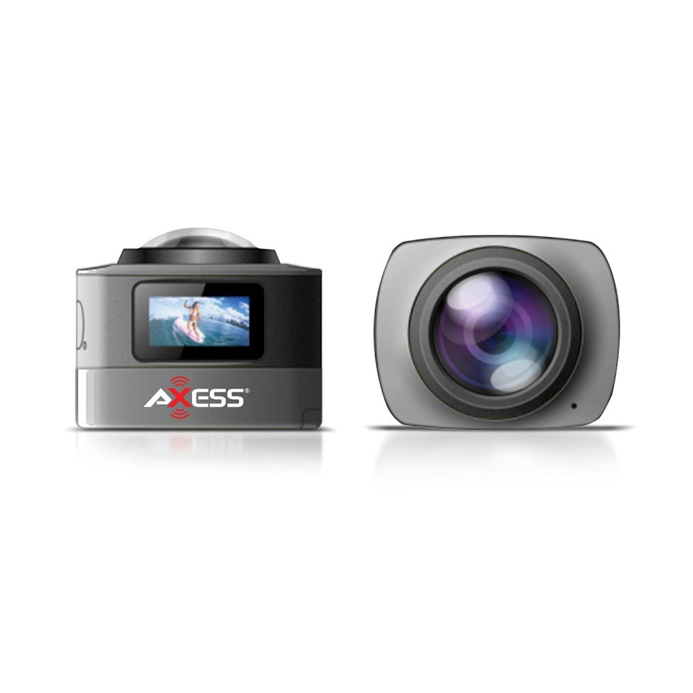 CS3607-BK 360 Degree Action Camera with WiFi Waterproof 1080p