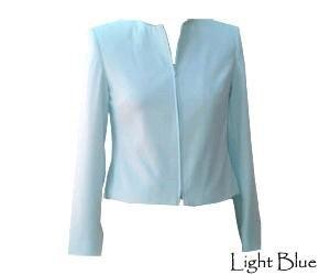 Womens Jacket - Light Blue - Size 6