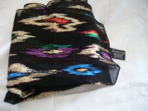 Specialty House Bright on Black Scarf