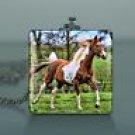 Beautiful Glass Pendant galloping Paint