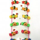 hair accessories Halloween clip claw green pink red blue yellow orange 12