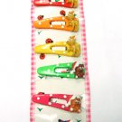 hair accessories x'mas clip claw green pink red blue yellow orange 6