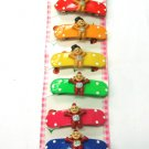hair accessories baby clip claw green pink red blue yellow orange 6