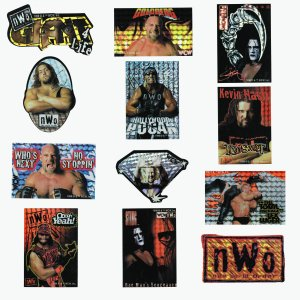 WCW, nWo Collectible Wrestling Stickers Set of 12