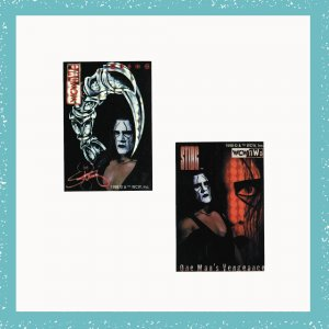 WCW, nWo Sting Collectible Wrestling Stickers Set of 2