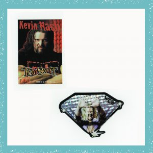 WCW, nWo Diamond Dallas Kevin Nash Collectible Wrestling Stickers Set of 2