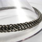 Square Ring Stainless Half Persian 4 in 1 Chainmaille Necklace